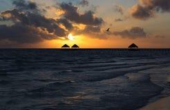 Sunrise in the Atlantic Ocean. Cayo Guillermo. Cuba Stock Images