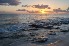 Sunrise on the Atlantic Ocean. Eleuthera Island, Bahamas Royalty Free Stock Images