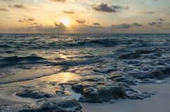 Sunrise on the Atlantic Ocean Stock Photo
