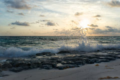 Sunrise on the Atlantic Ocean. Eleuthera Island, Bahamas Royalty Free Stock Photography