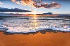 Sunrise and atlantic ocean. Stock Images