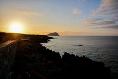 Sunrise on the Atlantic Ocean Stock Photo