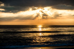 Sunrise on Atlantic Ocean. At Nags Head Stock Image
