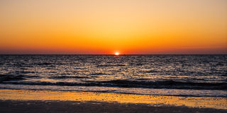 Sunrise on Atlantic Ocean seen from Jekyll Island  Royalty Free Stock Photos