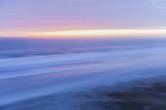Sunrise Atlantic. Ocean and sky at sunrise abstract, in-camera motion blur. Florida, Atlantic coast, aerial view Stock Images