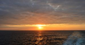 Sunrise in the Atlantic Stock Image