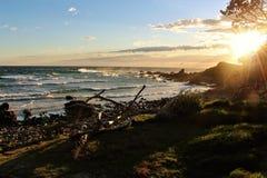 Sunrise in Australia. Mornings on the sea shore in Australia are breathtaking Royalty Free Stock Photos