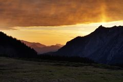 Sunrise in the Austrian Alps, Austria Stock Images