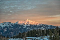 Sunrise in Austrian Alps Stock Photo