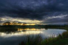 Sunrise. In autumn Stock Images