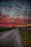 Sunrise in autumn Stock Photography