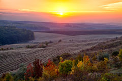 Sunrise in autumn Royalty Free Stock Photo