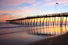 Sunrise at the Avalon Pier Royalty Free Stock Images