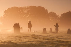 Sunrise in Avebury Stock Photography