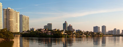 Sunrise in Aventura Florida. By the intracoastal waterway Royalty Free Stock Photos