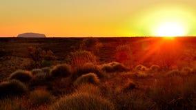 Sunrise of Ayers Rock Royalty Free Stock Images