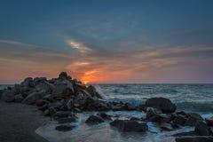 Sunrise at Azov sea Royalty Free Stock Image
