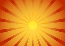 Sunrise background. Retro sunrise background gradient red and yellow eps Royalty Free Stock Photo
