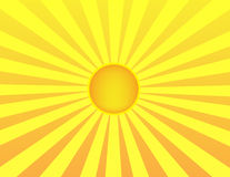 Sunrise background. A yellow and orange sunrise background Royalty Free Stock Photos