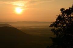 Sunrise background. Background sunrise over the mountains stock photos