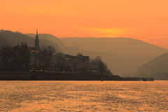 Sunrise in Bad Schandau Royalty Free Stock Images