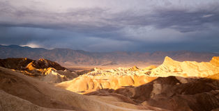 Sunrise Badlands Amargosa Mountain Range Death Valley Zabriskie Point Stock Images