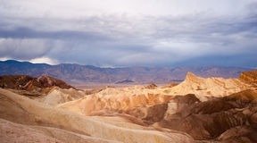 Sunrise Badlands Amargosa Mountain Range Death Valley Zabriske Point Royalty Free Stock Images