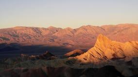 Sunrise Badlands Amargosa Mountain Range Death Valley Zabriskie Point stock video