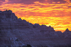 Sunrise in Badlands National Park Royalty Free Stock Photo