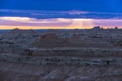 Sunrise in Badlands National Park Royalty Free Stock Photography