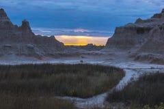 Sunrise in Badlands National Park Stock Photo