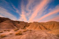 Sunrise in the Badlands of Nebraska royalty free stock images