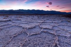 Badwater basin, Death Valley, California, USA. stock photography