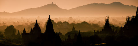Sunrise in Bagan. In the first hour of the day Stock Photography