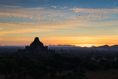 Sunrise at Bagan. Myanmar Royalty Free Stock Image