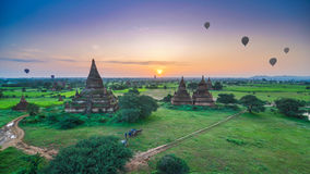 Sunrise at Bagan, Myanmar Stock Images