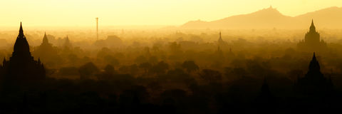Sunrise in Bagan. Myanmar in the first hour of the day Stock Photos
