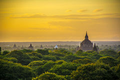 Sunrise in bagan,myanmar. View point in bagan of myanmar Royalty Free Stock Image