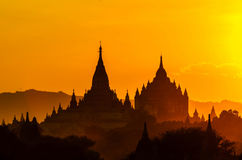 Sunrise of bagan pagoda Stock Images