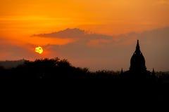 Sunrise at Bagan pagoda Myanmar Royalty Free Stock Photography