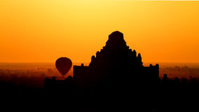 Sunrise in Bagan Stock Image