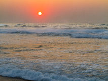 Sunrise at Baggies Beach, Durban, South Africa Royalty Free Stock Images