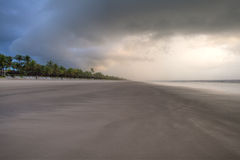 Sunrise in Bahia Brazil. Panoramic of a tropical stormy beach sunrise in Bahia Brazil stock photography