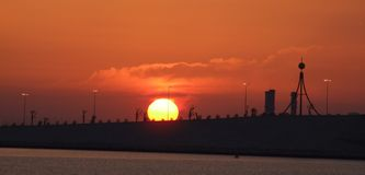 Sunrise Bahrain Royalty Free Stock Photography