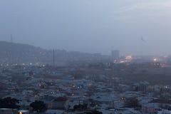 Sunrise in Baku Stock Photo