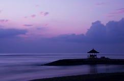 Sunrise in Bali. Photo of a rising sun in Bali, Sanur Royalty Free Stock Photos