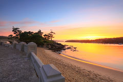 Sunrise Balmoral Beach seaside suburb Sydney Australia Stock Images