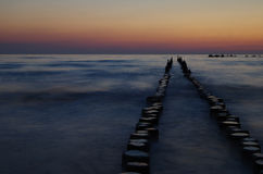 Sunrise at the baltic sea Royalty Free Stock Images