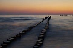 Sunrise at the baltic sea Stock Photos