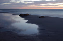 Sunrise at the baltic sea in germany heringsdorf Stock Images